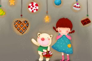 happy heart (design) children illustration