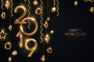 happy new year numbers 2019 (year) christmas ornaments