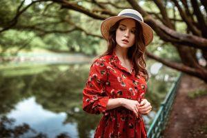 hat women women outdoors model georgy chernyadyev