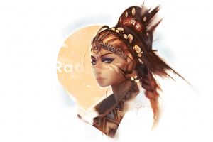 headdress digital art traditional clothing women