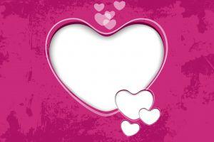 heart digital art grunge pink background