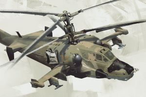 helicopter joe gloria attack helicopters fly concept art white background kamov ka-50 aircraft russian army vehicle