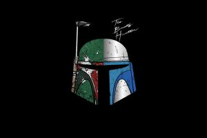 helmet boba fett minimalism artwork black background star wars villains bounty hunter star wars simple background
