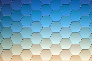 hexagon beige texture pattern cyan