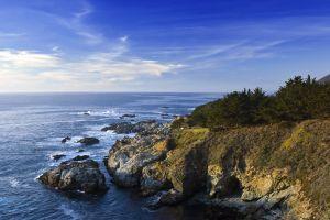horizon nature coast sea rock