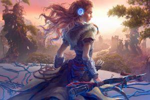 horizon: zero dawn aloy (horizon: zero dawn) artwork fantasy art video games women