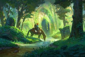 horse the legend of zelda: breath of the wild anime the legend of zelda
