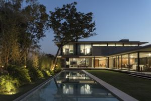 house swimming pool modern mansions architecture