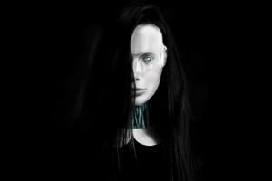 humanoid women robot photo manipulation