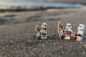 humor sand star wars star wars humor lego humor toys surfboards depth of field gray