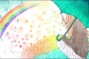 illustration umbrella colorful vocaloid