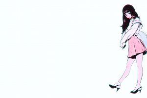ilya kuvshinov white background anime girls ilya kuvshinov anime girls simple white background