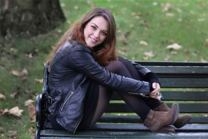 imogen dyer black jackets women women outdoors smiling british leather jackets model jacket looking at viewer brunette
