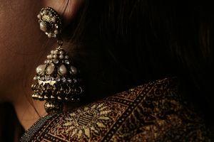 indian women jewelry brown