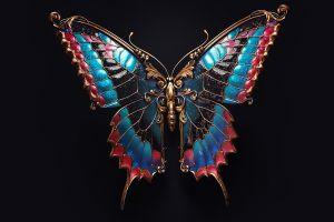 insect black background butterfly jewel sasha vinogradova