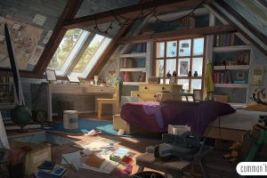 interior room anime