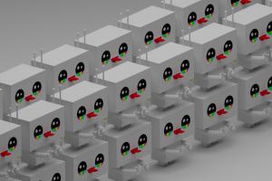 isometric robot blender