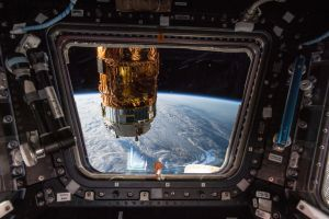 iss earth universe atmosphere orbits technology space orbital view space station window nasa