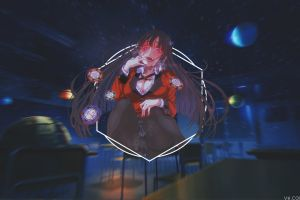 jabami yumeko anime picture-in-picture anime girls kakegurui