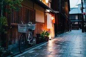 japan bicycle house street