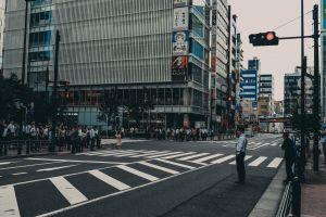 japan building city people
