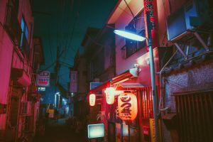 japan street street light urban