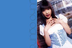 japanese women yuko ogura asian dark hair red lipstick model