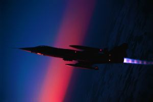 jet fighter sky sunrise