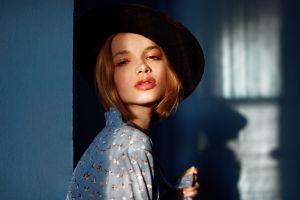 juicy lips face georgy chernyadyev anna dyuzhina women model portrait
