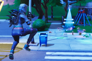 jumping fortnite weapon pc gaming screen shot battle royale