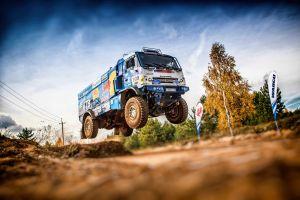 jumping rally vehicle red bull dirt trucks racing
