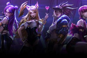kai'sa (league of legends) ahri (league of legends) video games league of legends k/da evelynn (league of legends) digital art akali(league of legends) summoner's rift
