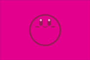 kirby simple background video games nintendo digital art minimalism