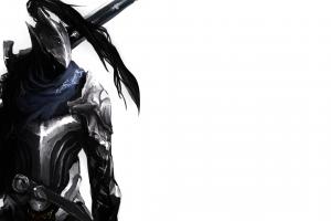 knight fantasy art artorias the abysswalker simple background dark souls
