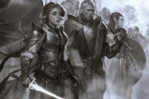 knight sword fantasy art