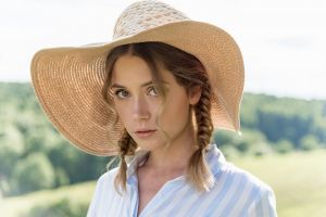 ksenia kokoreva women with hats women hat straw hat portrait braids women outdoors