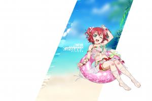 kurosawa ruby love live! sunshine minimalism swimwear minimalism love live! sunshine kurosawa ruby bikini bikini swimwear