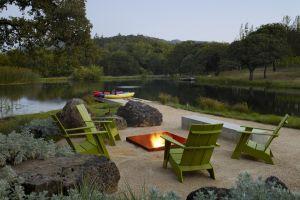 lake garden campfire
