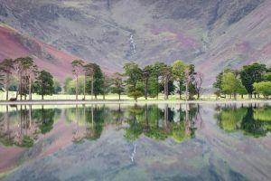 lake trees landscape reflection england lake district