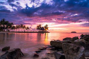 landscape beach sunrise