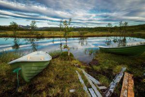 landscape boat nature