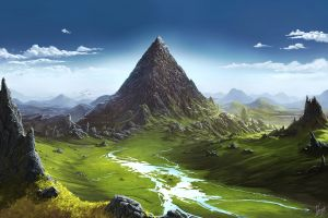 landscape fantasy art digital art