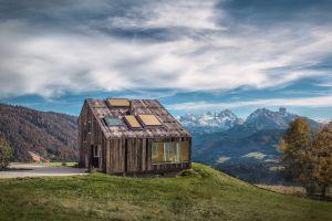 landscape modern house mountains architecture cabin