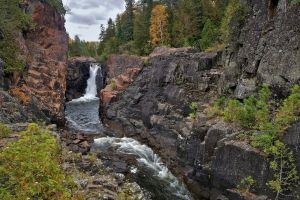 landscape nature rock waterfall