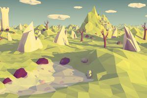 landscape polygon art sketches landscape