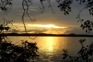 landscape river sunlight sky