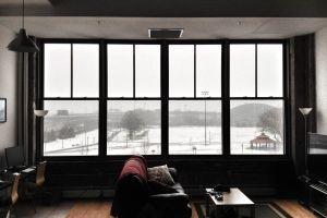 landscape snow apartment