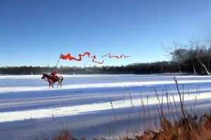 landscape soldier snow fantasy art artwork dominik mayer