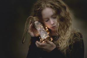 lantern fantasy girl curly hair model face women