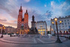 lantern urban church polish poland city main square kraków